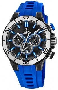 Festina Chrono Bike Armbanduhr blau Silikon Edelstahl Datum Analog F20450/5