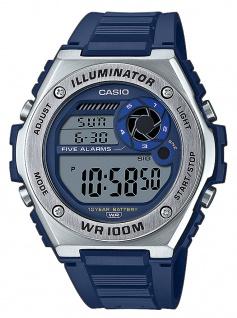 Casio Collection Analoguhr Acrylglas LED Light Weltzeitfunktion MWD-100H-2AVEF