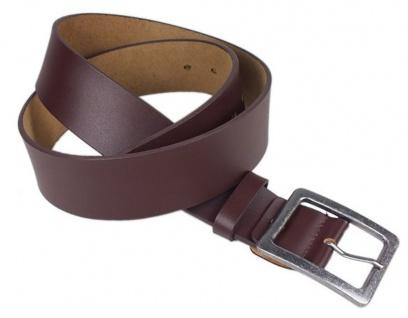 Minott Damen / Herren Gürtel aus Leder 4, 3cm Braun mit Schnalle im Used Look 24003