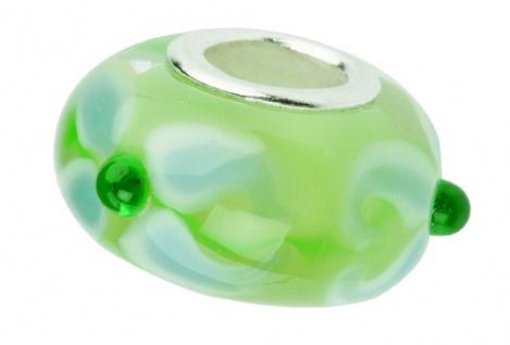 Charlot Borgen Marken Damen Bead Beads Drops Kristallglas Silberkern GPS-48Grün
