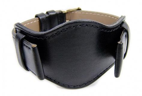 Minott Uhrenarmband Kalbnappa mit Unterlage schwarz 21050G