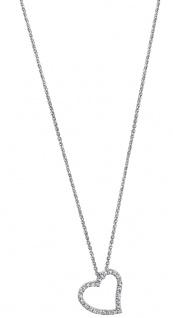 Lotus Silver Halsschmuck Collier Kette mit Herz Anhänger Silber LP1519-1/1