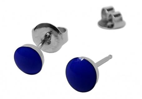 STUDEX Erstohrstecker Ohrschmuck Ohrringe Ø 5mm Edelstahl NEON - Blau - 100 % Steril 30706