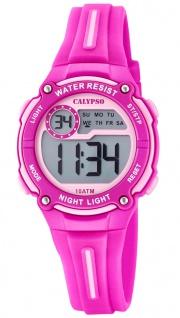 Calypso Kinderuhr digital PU-Band Armbanduhr pink Kunststoff Uhr Quarzuhr K6068/1 K6068