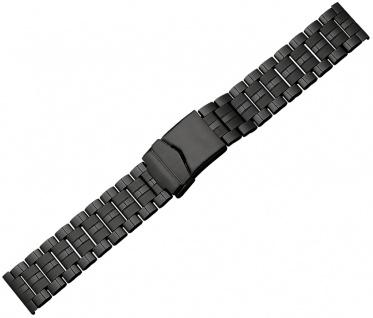 Minott Ersatzband Edelstahl PVD schwarz glänzend/matt Sicherheitsschließe