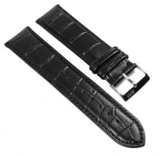 Hugo Boss Uhrenarmband Leder schwarz 22mm für 1512429 1512708 1512780