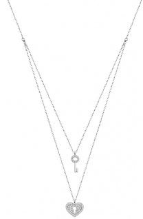 Lotus Silver Halsschmuck Collier Kette mit Herz Anhänger Silber LP1680-1/1