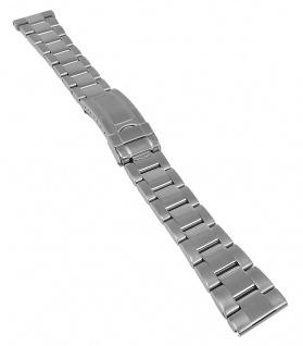 Uhrenarmband Edelstahl Band Massiv 20mm 21175S