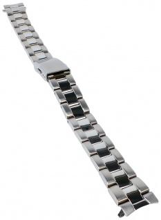 Casio Armband | Uhrenarmband Edelstahl Band Silberfarben für Collection Beside BEL-114D