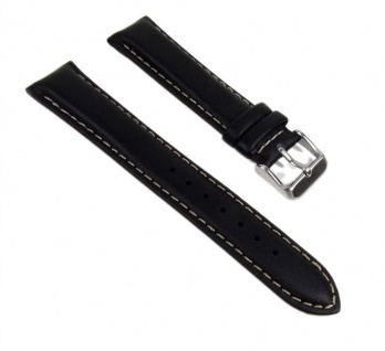 Casio Uhrenarmband Leder Band 20mm schwarz BEM-116L-1 BEM-116L