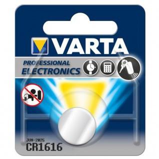 Varta Knopfzelle Batterie 3V Ersatzbatterie CR1616 Lithium für Armbanduhren 34285