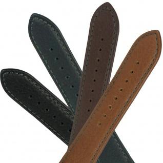 Festina Uhrenarmband Ersatzband Leder Band mit grauer Kontrastnaht 24mm für alle Modelle F16777 F16779
