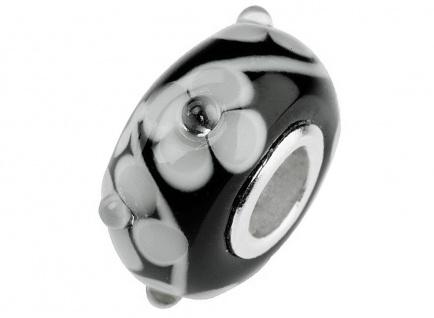 Charlot Borgen Marken Damen Bead Beads Drops Kristallglas Silberkern GPS-46schwarz