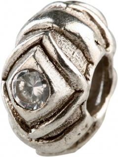 Charlot Borgen Marken Damen Bead Beads Drops Silber mit Zirkonia SCZ-06-Weiß