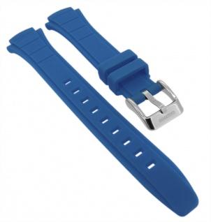 Calypso Ersatzband aus Kunststoff in blau mit Schließe silberfarben K5756/8