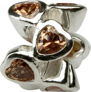 Charlot Borgen Marken Damen Bead Beads Drops Silber mit Zirkonia SCZ-20-Champag