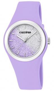 Calypso Damenuhr analog weiß Kunststoff Armbanduhr Uhr PU-Band Quarzuhr K5754/2 K5754