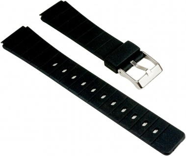 Eulit Uhrenarmband Kunststoff Band Schwarz 25555S
