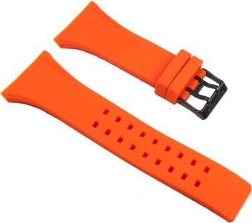 Police Vantage Uhrenarmband Kautschuk Band Orange für P13077MPBS-02