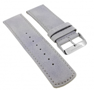 Bruno Banani Big Square Ersatzband 26mm in grau glatt aus Leder SQ4 901 301 BR20687