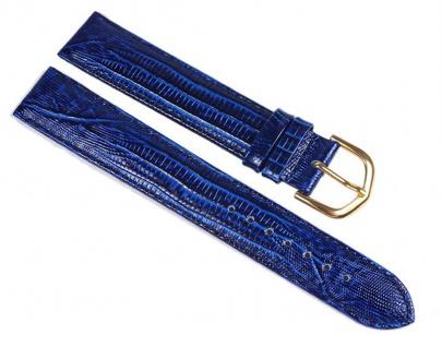 Minott Eidechs-Narbung Uhrenarmband Kalbsleder Band XL Blau 23582G