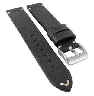 Minott   Uhrenarmband Rindsleder mit Design Naht und Used-Optik, handversiegelte Schnittkante 29981