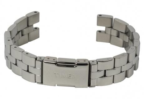 Uhrenarmband Damen Edelstahl Band silberfarben hochglänzend passend zu Timex T2P549 T2P543 T2P544