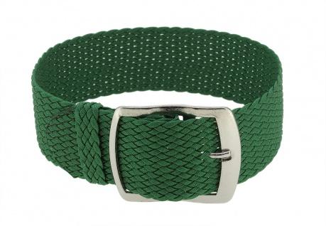 Minott Uhrenarmband 12mm Textil grün gleichlaufend wasserfest geflochten