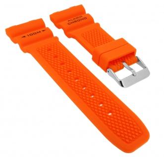 Calypso K5764 Ersatzband Kunststoff orange Spezial Anstoß Schließe silbern K5764