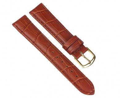 Uhrenarmband Guinea Ersatzband Kalbsleder Band Braun 12mm - 22mm 30050