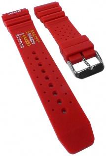 Minott Taucherband mit Dekompressionstabelle Uhrenarmband Kunststoff Band rot weich 30818S