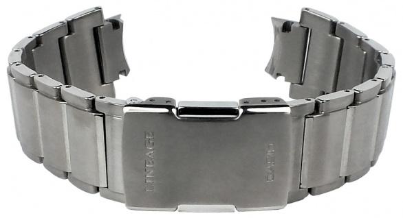 Casio Armband | Uhrenarmband Titan Band Silberfarben für Wave Ceptor Lineage LCW-M500TD