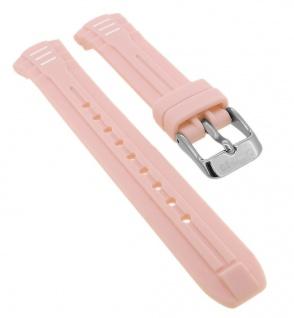 Calypso Ersatzband aus Silikon in rosa mit Schließe silberfarben Spezial Anstoß K5757/1