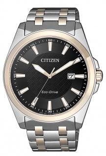 Citizen Eco-Drive Herren-, Solaruhr mit Saphirglas | Edelstahlband | bicolor > BM7109-89E