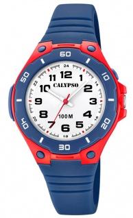 Calypso Kinderarmbanduhr analoge Quarzuhr aus Kunststoff für Jungen in dunkelblau K5758/1
