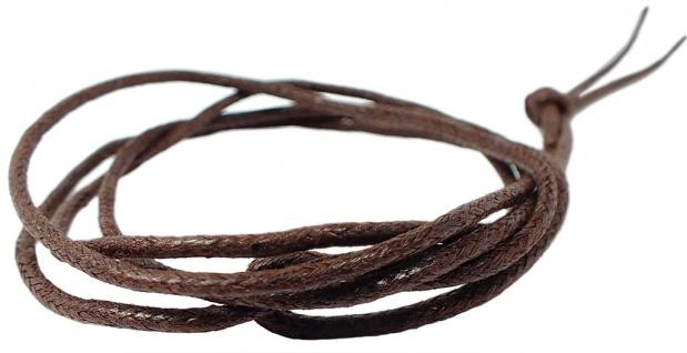 Minott Halskette braunes Band aus Baumwolle 100cm lang 38574