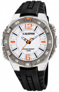 Calypso analoge Herrenuhr | mehrfarbig Kunststoff Gehäuse-, & Band > Wasserdicht K5778/1