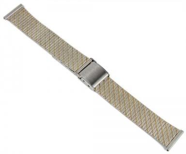 Minott Uhrenarmband Edelstahl Band Bicolor 20mm 19681Bi