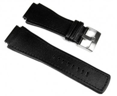 Junghans Mega 1000 Uhrenarmband Leder Schwarz 42050-4858 026/4510.00