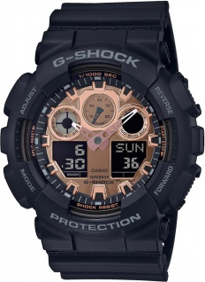 Casio G-Shock digitale Herrenuhr schwarz Resin Antimagnetisch GA-100MMC-1AER