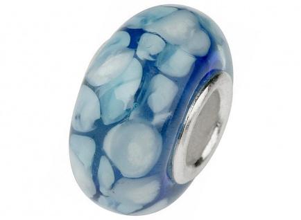 Charlot Borgen Marken Damen Bead Beads Drops Kristallglas Silberkern GPS-55Blau