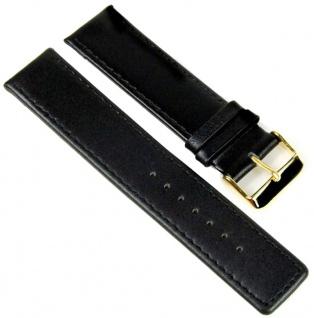 Uhrenarmband Leder Band schwarz 22mm 811110101022G