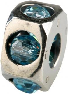Charlot Borgen Marken Damen Bead Beads Drops Silber mit Zirkonia SCZ-18-Türkis