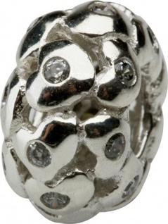 Charlot Borgen Marken Damen Bead Beads Drops Silber mit Zirkonia SCZ-24-Weiß