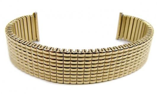 Minott Flex Band Uhrenarmband PVD Gold Zugband 20mm 21105