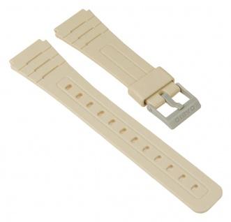 Casio Uhrenarmband Resin Band Grau für F-91WC 10361905