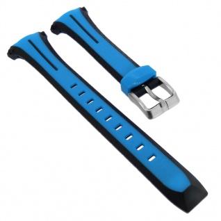 Calypso Sport Ersatzband aus Kunststoff in blau mit Schließe silberfarben K5682/1 K5682/4