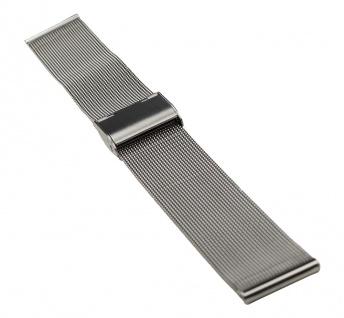 Timex Uhrenarmband Edelstahl Band Milanaise Silberfarben hochglanz für T2N597 T2N599