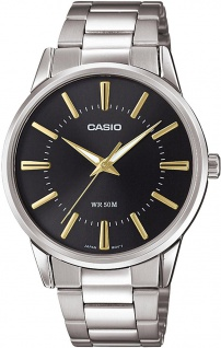 Casio Collection Analoguhr mit Edelstahlband in silbern MTP-1303PD-1A2VEF