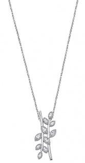 Lotus Silver Halsschmuck Collier Kette mit Anhänger und Zirkonia Silber LP1783-1/1